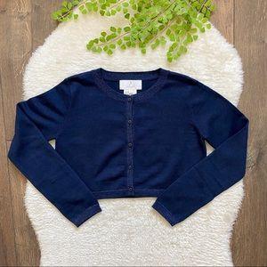 NWT Jacadi Cropped Wool Blend Cardigan size 10
